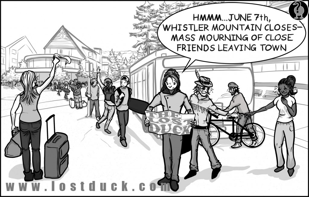 Lost Duck Events Cartoon